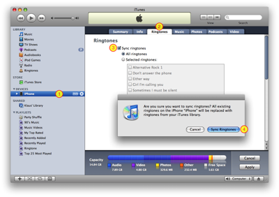 Enable Ringtones sync in iTunes
