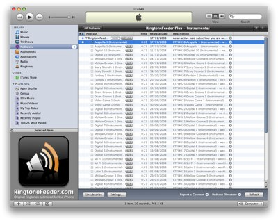 List view in iTunes 8