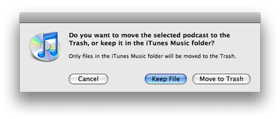 Deleteting a feed from iTunes