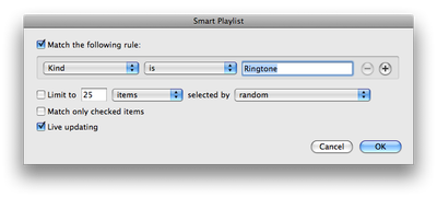 Making a Smartplaylist