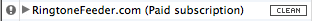 The exclamation mark in iTunes