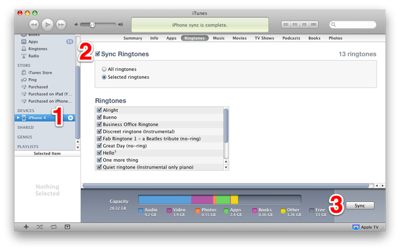 Enable Ringtones sync in iTunes 10.4